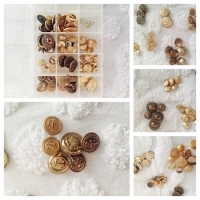 Vintage Gold Tone buttons