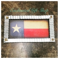 Metal and Wood Texas Flag Wall Sign